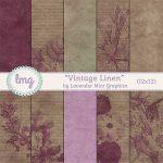 """""""Vintage Linen"""" Paper Pack"""